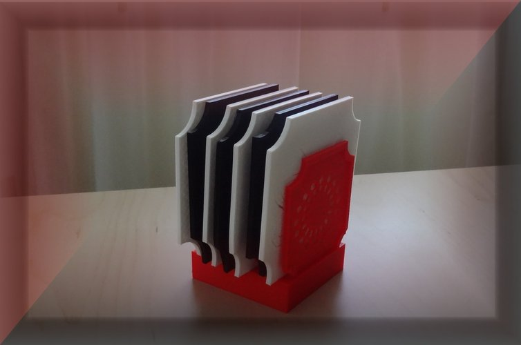 Coaster box and Coaster/Plate rack 3D Print 29045