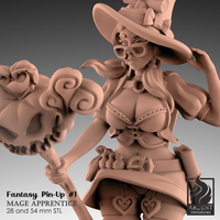 Small Mage Apprentice - Fantasy Pin-up #1 3D Printing 290758