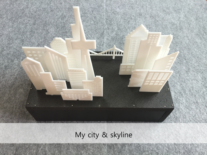 Your City & Skyline 3D Print 29146