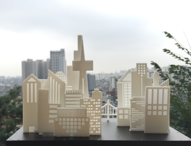 Your City & Skyline 3D Print 29151