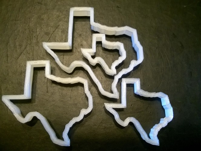 Texas Cookie Cutter, set of four 3D Print 29268