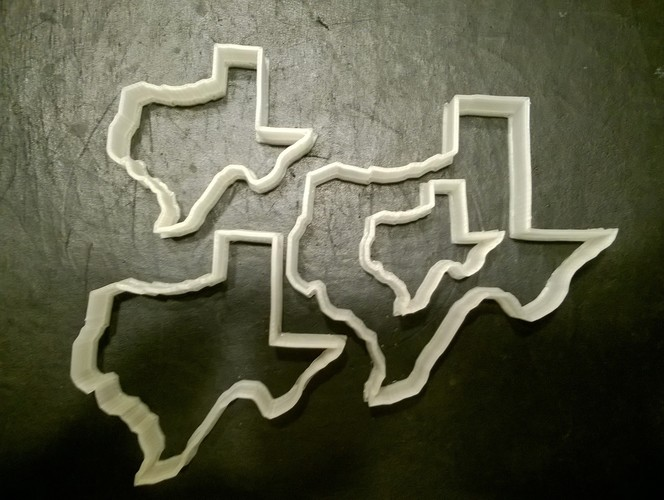 Texas Cookie Cutter, set of four 3D Print 29270