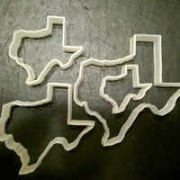 Small Texas Cookie Cutter, set of four 3D Printing 29270