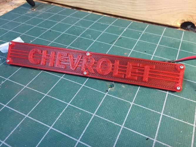 Ascender Chevy Tailgate Light Bar 3D Print 29278