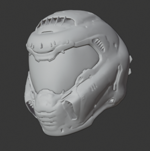 3d Printed Casco Doom Slayer Doom Helmet By Velkan Art Pinshape