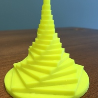 Small Ascending Pentagon Fractal Tower 3D Printing 29625