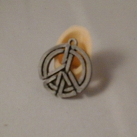 Small Peace knot pendant 3D Printing 2977