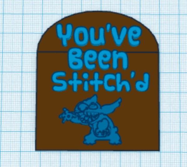 Medium You've Been Stitch'd Sign 3D Printing 29887