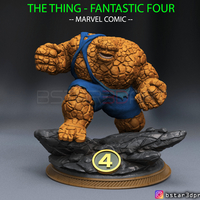 Small The Thing High Quality - Fantastic Four - Marvel Comic  3D Printing 298942