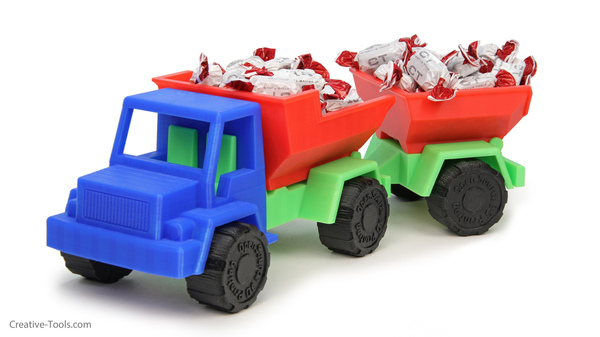 Medium Toy Dump Truck Trailer 3D Printing 29913