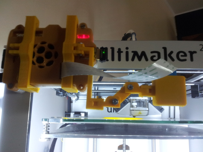 Raspberry and Raspicam mount for Ultimaker 2  3D Print 29928