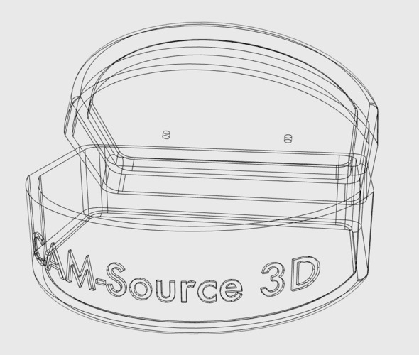 CAM-Source 3D: Night Guard/ Sports Guard/ retainer container 3D Print 29940