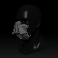 Small Quarantine Mask Darth Vader Style 3D Printing 299408