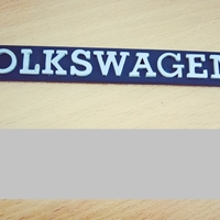 Small VW Mk1 rear volkswagen badge 3D Printing 299425
