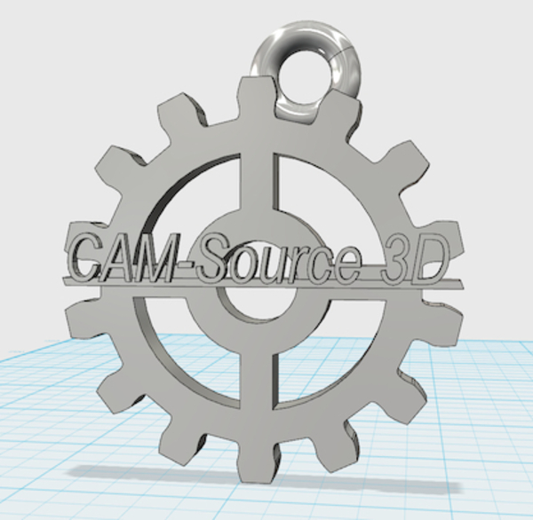 Medium CAM-Source 3D gear keychain 3D Printing 29949