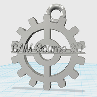 Small CAM-Source 3D gear keychain 3D Printing 29949