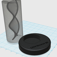 Small CAM-Source 3D: Encapsulated Double Helix 3D Printing 29951