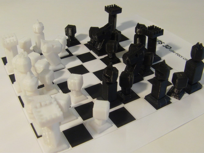 Phelps3D Low Poly Chess Set 3D Print 29959