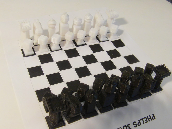 Phelps3D Low Poly Chess Set 3D Print 29964
