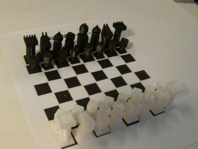 Phelps3D Low Poly Chess Set 3D Print 29965