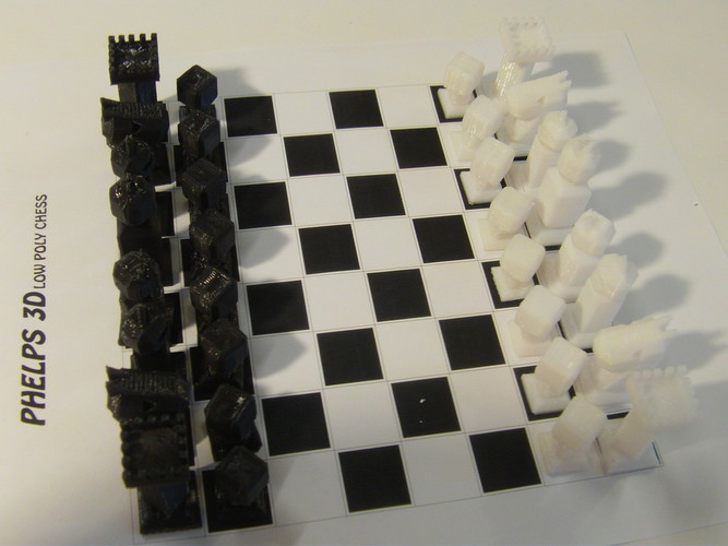 Phelps3D Low Poly Chess Set 3D Print 29966