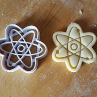 Small Atom Symbol cookie cutter 3D Printing 299696