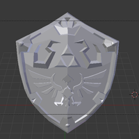 Small Shield of Hyrule  3D Printing 299907