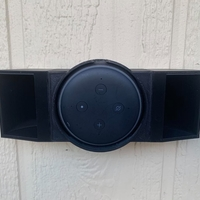 Small Echo Dot v3 Wall Mount 3D Printing 299973