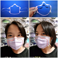 Small COVID-19 MASK - FACE MASK CLOSE TO FACE 3D Printing 300103