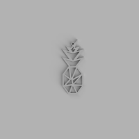 Small Pineapple keychain, necklace 3D Printing 300105