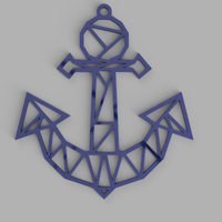 Small Anchor keychain, necklace 3D Printing 300108