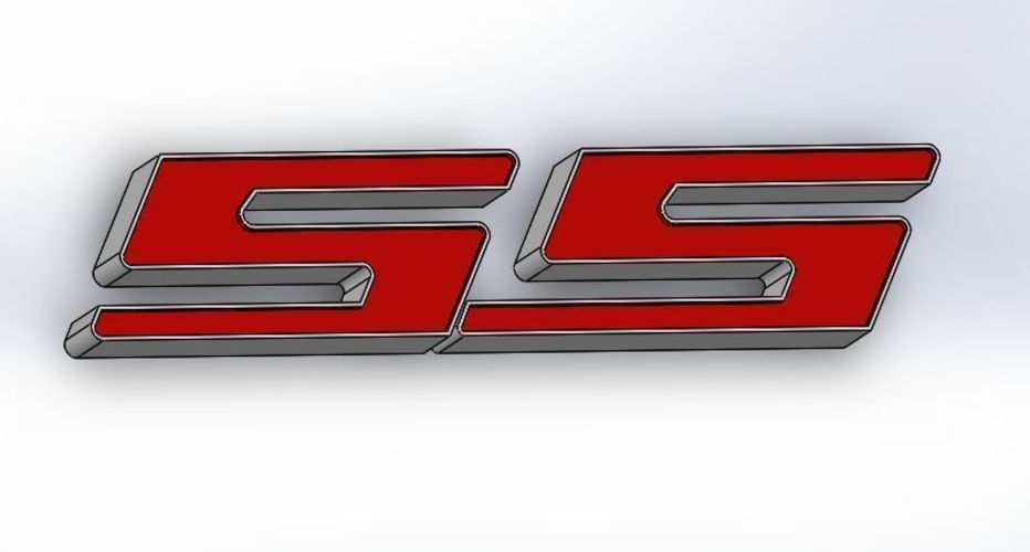 Chevy Super Sport Auto Badge 3D Print 300516