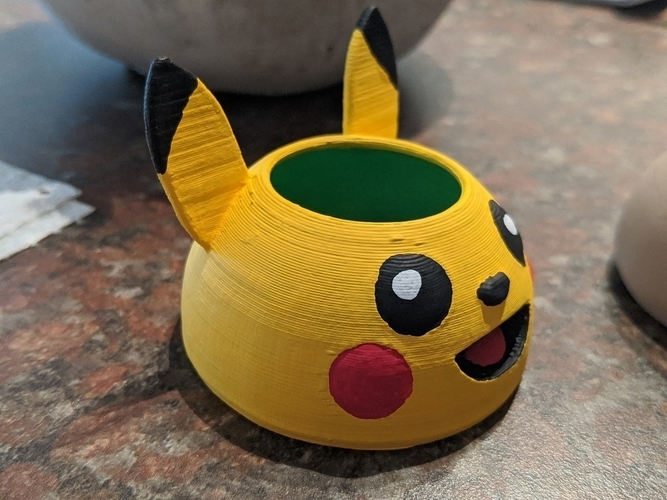 Pikachu Mini Planter Pot 3D Print 300517