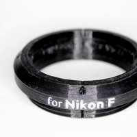 Small Nikon F adapter for GuerillaBeam projectors 3D Printing 30078