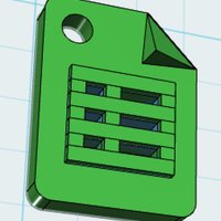 Small Google Sheets Product Icon - with Keychain/craft hole 3D Printing 30117