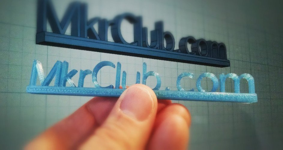 MkrClub.com Text Sign for desktop 3D Print 30121