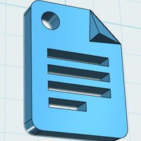 Small Google Docs Icon Charm 3D Printing 30124