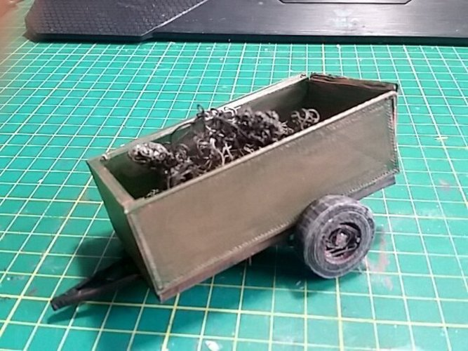 1930 Pickup Trailer Diorama Kit (1/24-1/25) 3D Print 30177