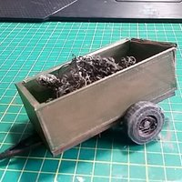 Small 1930 Pickup Trailer Diorama Kit (1/24-1/25) 3D Printing 30177
