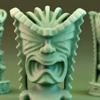 Small Tiki God of Money 3D Printing 30191