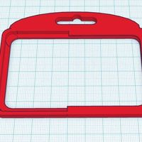 Small Single Badge Holder - rounded corners 3D Printing 30222