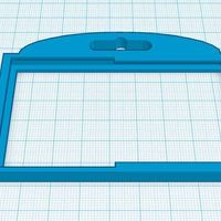 Small Double ID Badge Holder 3D Printing 30226