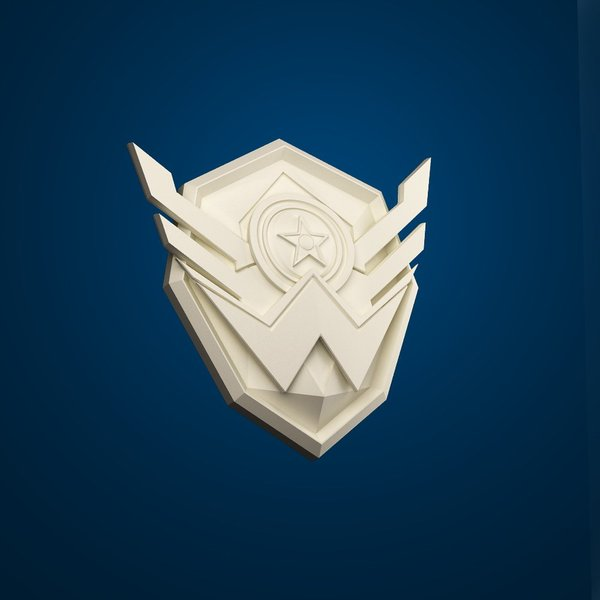 "Medium Icon of game ""Warface"" 3D Printing 30249"