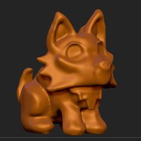 Small Puppy Wolf 3D Printing 30272