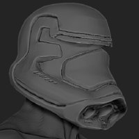 Small Star Wars VII Force Awekens Storm Trooper Helmet 3D Printing 30275