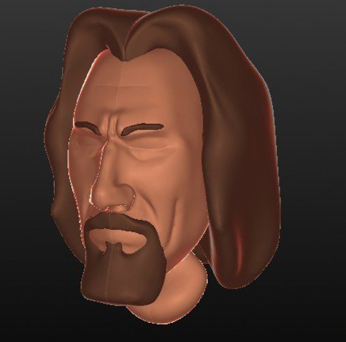 work in progress - the Dude (The Big Lebowski) 3D Print 30283
