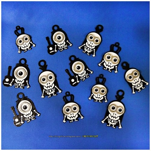 Minions Keychain / Magnets - Skull / Skeleton Version 3D Print 30306