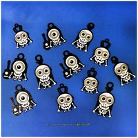 Small Minions Keychain / Magnets - Skull / Skeleton Version 3D Printing 30306