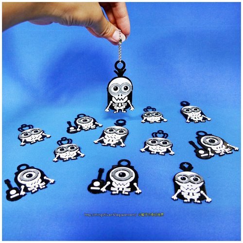 Minions Keychain / Magnets - Skull / Skeleton Version 3D Print 30307