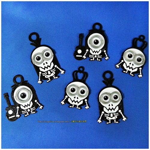 Minions Keychain / Magnets - Skull / Skeleton Version 3D Print 30309